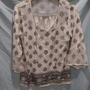 Lucky Brand BOHO Live in Love Top - L